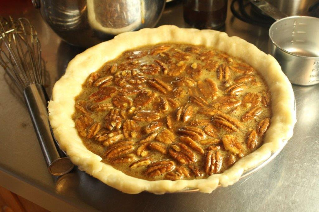 Sorghum Molasses Pecan Pie (without white sugar!)